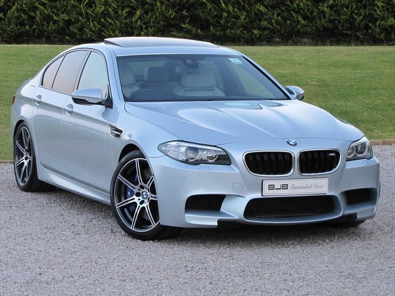 BMW M5 DCT COMPETITION PACK. Silverstone II Metallic with silverstone. SOLD.
